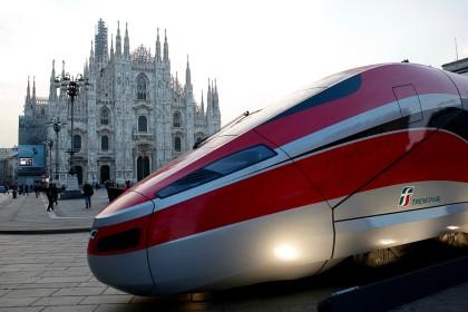 поезд на площади Дуомо