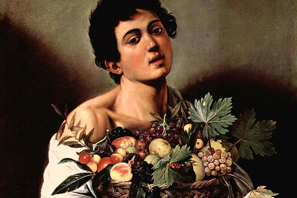 Мальчик с корзиной фруктов Караваджо